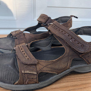 MERRELL Shoes - MERRELL MEN'S BROWN LEATHER SANDALS SIZE11.5